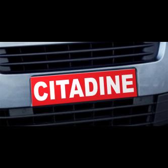 Cache plaque d'immatriculation avantage Citadine rouge