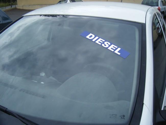 Autocollant avantage diesel en vente chez Autosignalétique