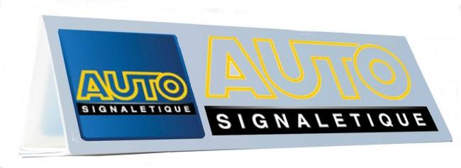 Triangle de toit magnétique personnalisable en vente chez Autosignalétique