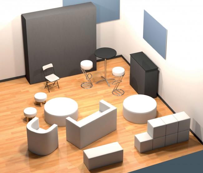 Ensemble de mobiliers personnalisables en vente chez Autosignalétique