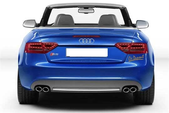 Signature automobile en lettrage adhésif sur arrière Audi
