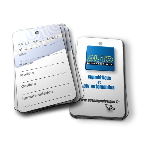 tiquette de clé AST AUTOSIGNALETIQUE pour faciliter les recherches de clés dans un parc auto