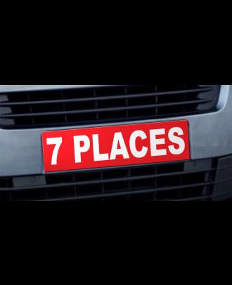 Cache plaque d'immatriculation avantage 7 places rouge