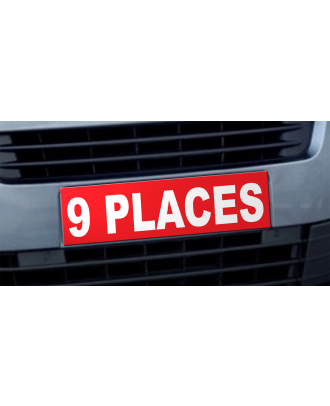 Cache plaque d'immatriculation avantage 9 places rouge