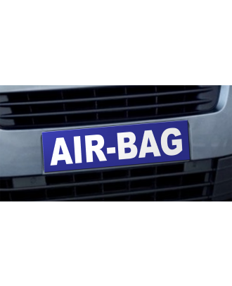 Cache plaque d'immatriculation bleu Airbag