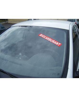 Autocollant Pare Brise Avantage rouge Biocarburant