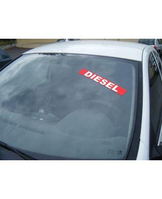 Autocollant Pare Brise Avantage rouge Diesel
