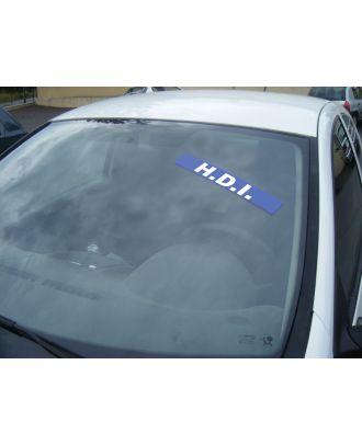 Autocollant Pare Brise Avantage bleu HDI