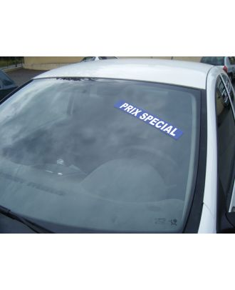 Autocollant Pare brise Avantage bleu Prix Spécial
