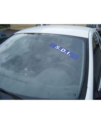 Autocollant Pare Brise Avantage bleu SDI