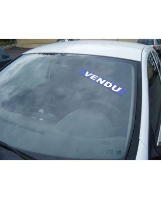 Autocollant Pare Brise Avantage bleu Vendu