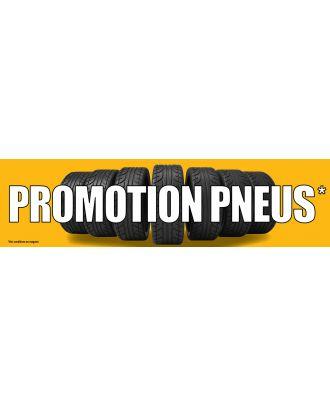Visuel de banderole Promotion Pneus 3 x 0.8 m version 2