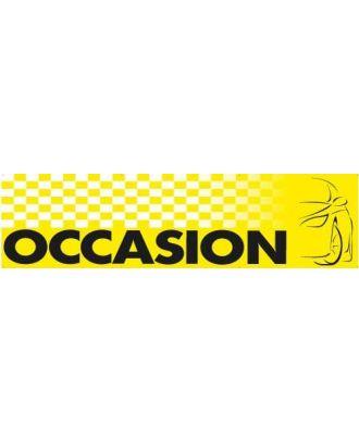 Banderole occasion en maille polyester à damiers jaune et noir