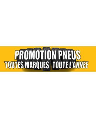 Visuel banderole Promotion Pneus 3 x 0.8 m