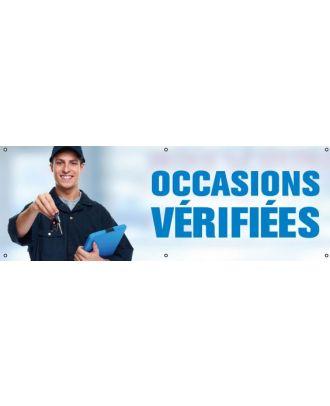 Banderole Occasions Vérifiées PVC