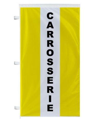 Bannière Carrosserie jaune à bandes latérales