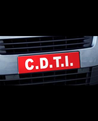 Cache plaque d'immatriculation avantage CDTI rouge