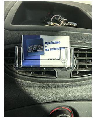 Présentoir de cartes de visite AEROCAR avec cartes de visite