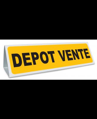 Triangle magnétique de toit Dépôt Vente coloris jaune et noir