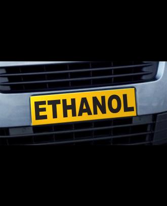 Cache plaque d'immatriculation avantage Ethanol jaune et noir