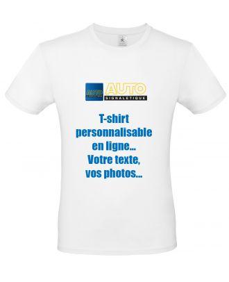 T-shirt exact 150 blanc personnalisable
