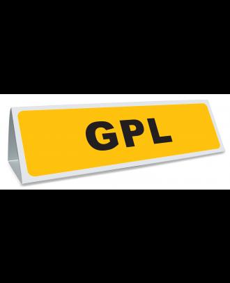 Triangle magnétique de toit GPL coloris jaune et noir