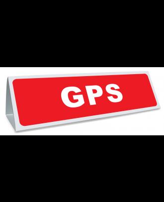 Triangle magnétique de toit GPS coloris rouge