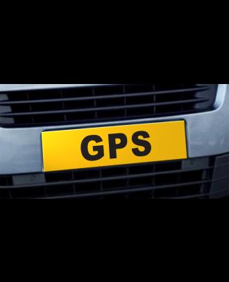 Cache plaque d'immatriculation avantage GPS jaune et noir