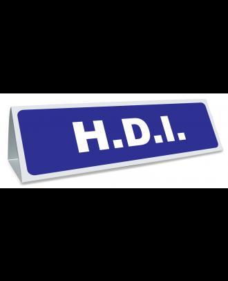 Triangle magnétique de toit HDI coloris bleu