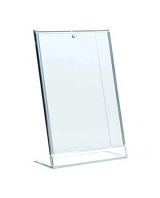Présentoir de visuel A4 plexiglas de comptoir ICLIN210