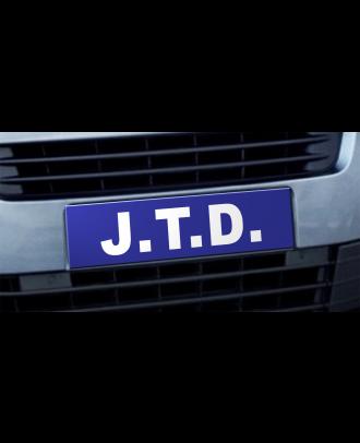 Cache plaque d'immatriculation avantage JTD bleu