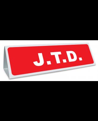 Triangle magnétique de toit JTD coloris rouge