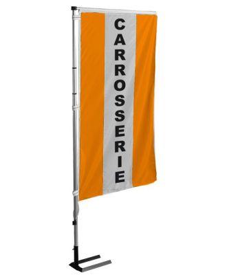 Kit mat et drapeau carrosserie Orange à bandes latérales 4 m