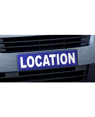 Cache plaque d'immatriculation avantage Location bleu