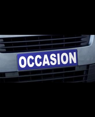 Cache plaque d'immatriculation avantage Occasion bleu