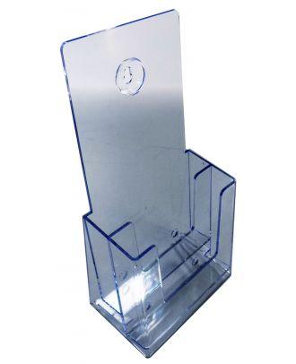 Présentoir plexiglas A6 2 compartiments ASK441 vue de coté
