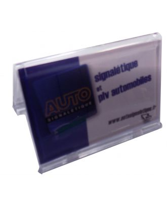 Porte carte de visite plexiglas 85 x 54 mm ASK769 pleine