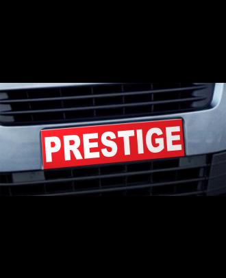 Cache plaque d'immatriculation avantage Prestige rouge