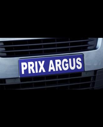 Cache plaque d'immatriculation avantage Prix Argus bleu