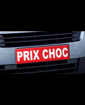 Cache plaque d'immatriculation avantage Prix Choc rouge