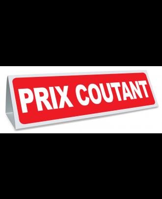Triangle magnétique de toit Prix Coutant coloris rouge