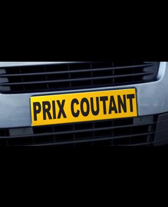 Cache plaque d'immatriculation avantage Prix Coutant jaune et noir