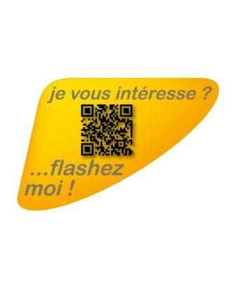 Autocollant QR Code Annonce Automobile personnalisé jaune