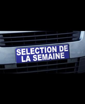 Cache plaque d'immatriculation avantage Selection de la Semaine bleu