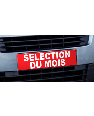 Cache plaque d'immatriculation avantage Selection du Mois rouge