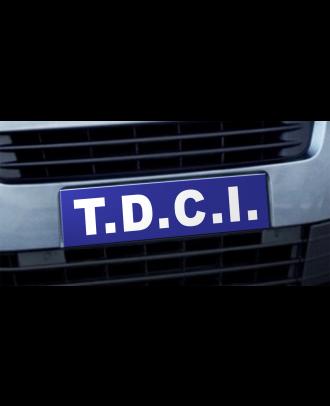 Cache plaque d'immatriculation avantage TDCI bleu