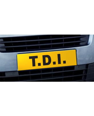 Cache plaque d'immatriculation avantage TDI jaune et noir