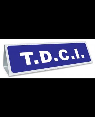 Triangle magnétique de toit TDCI de coloris bleu