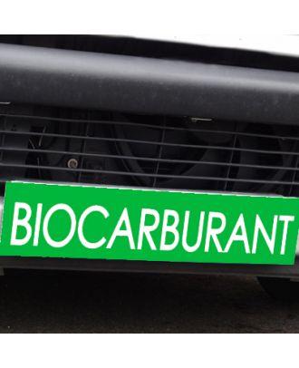 Cache plaque d'immatriculation avantage vert Biocarburant
