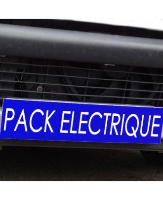 Cache plaque d'immatriculation avantage bleu Pack Electrique